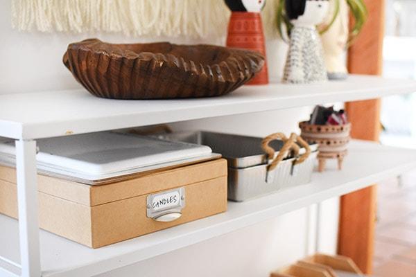 Front Entry Refresh - Organized Shelf