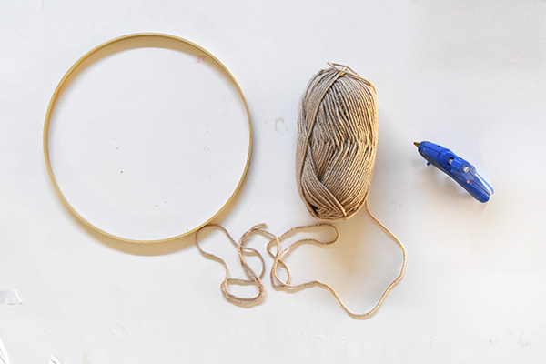 Wrapping Embroidery Hoop