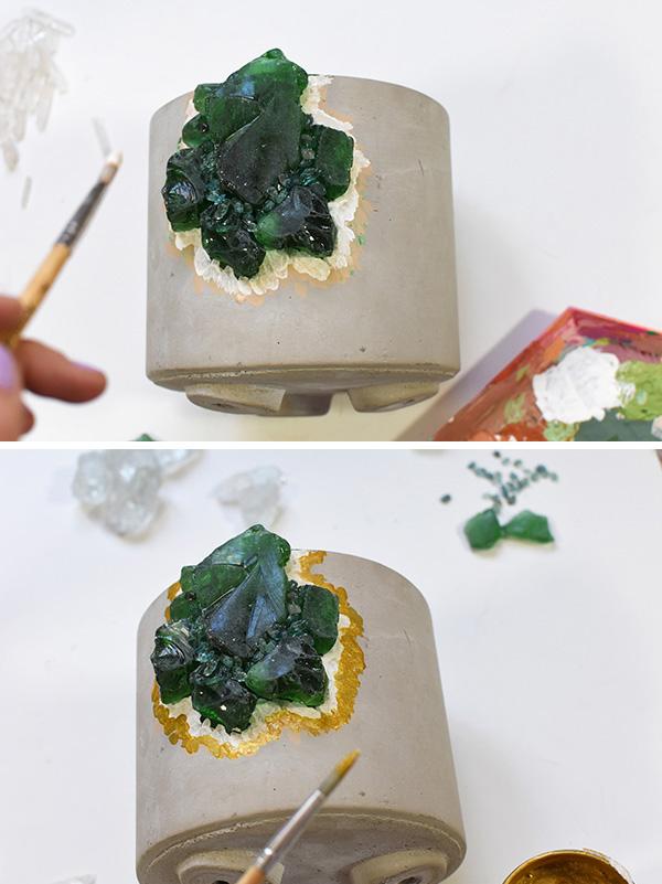 DIY Geode pot