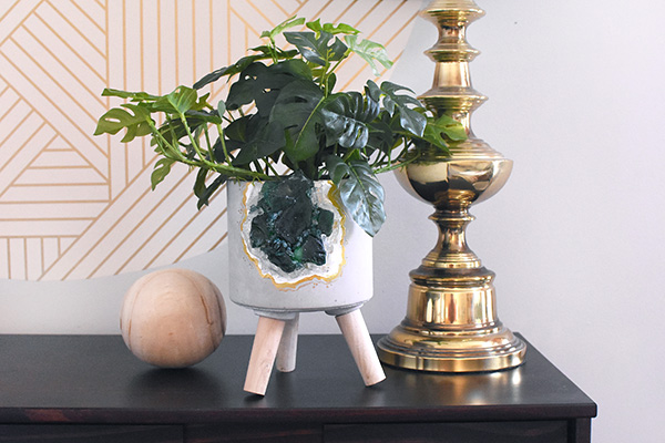 Green Rock Planter pot