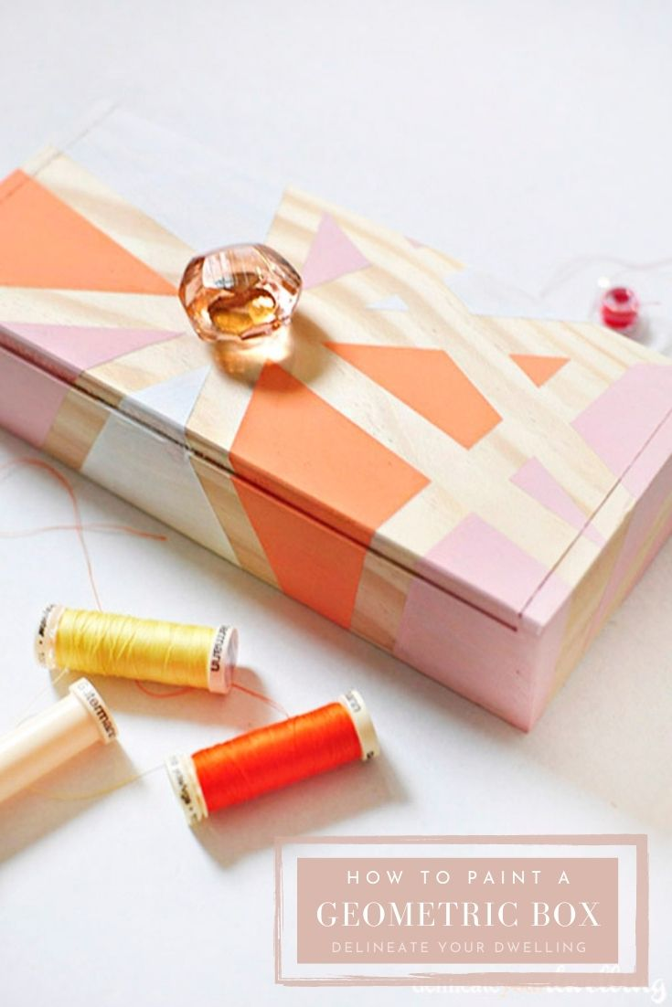 Geometric Painted Box