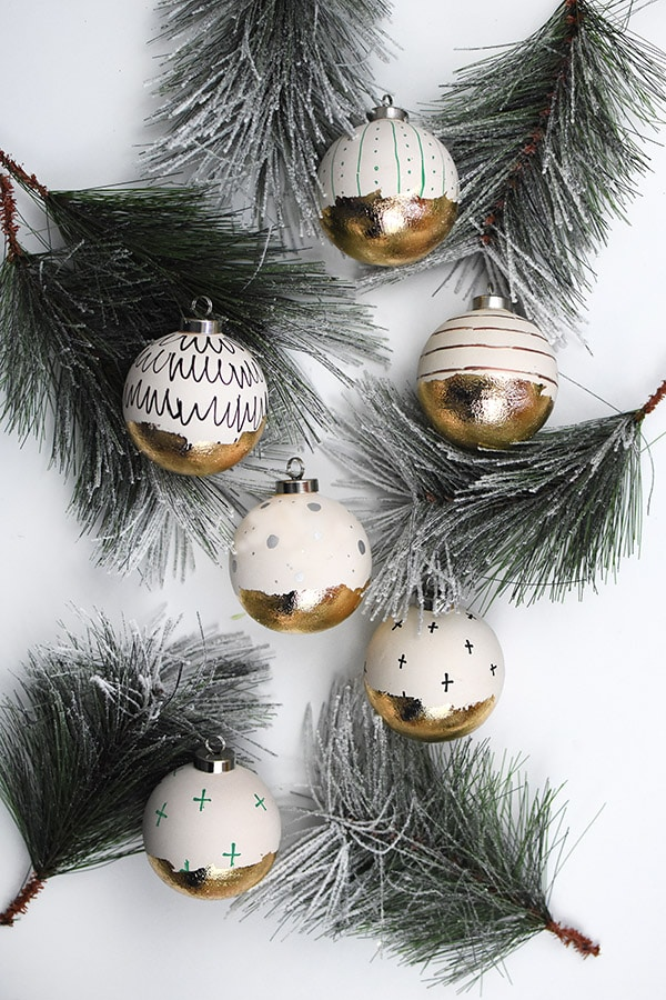Gold Foil Ornaments
