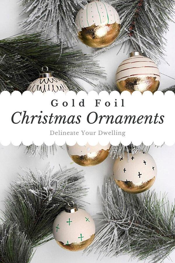 Gold Foil Christmas Ornaments