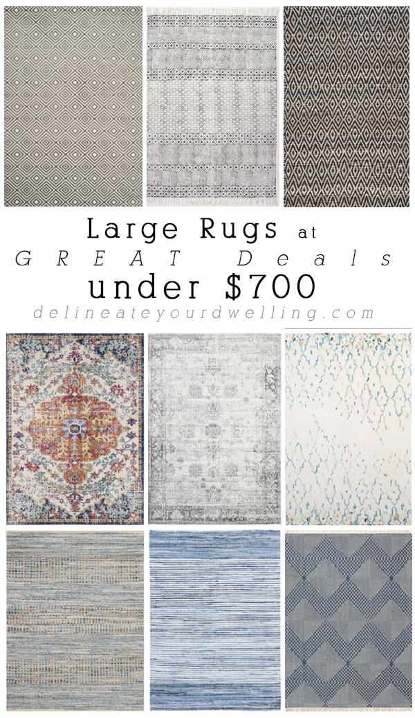 Large Rug Deals under $700