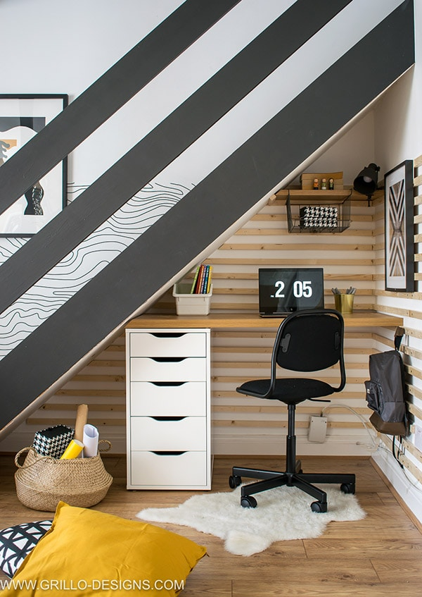 GrilloDesigns-scandi-under-stairs-wood-accent