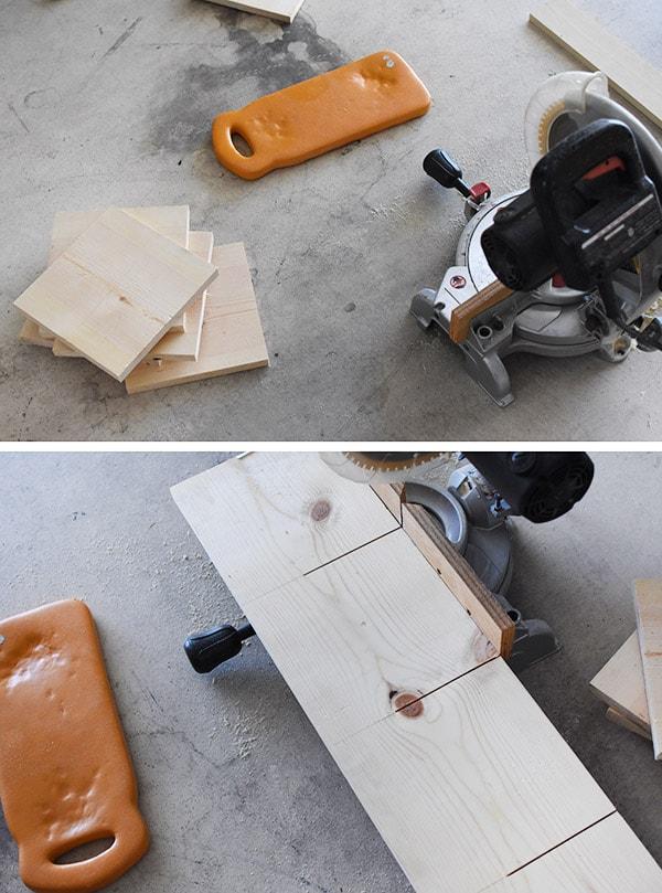 Hallway update - Miter Saw cutting boards