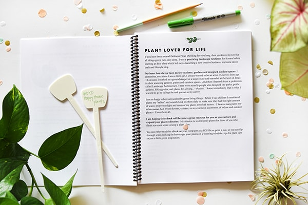 Happy Houseplants ebook, plant lover for life