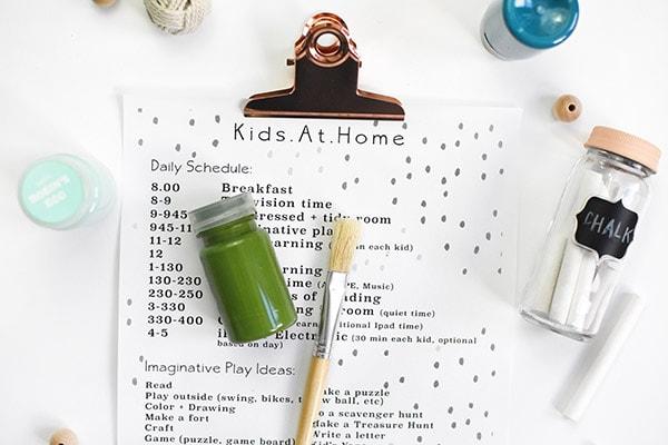 Home Kid School Schedule