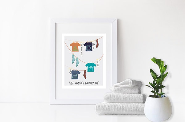 Adorable graphic Laundry Symbols Print - Perfect to help you remember what all the symbols mean. Delineate Your Dwelling #laundrysymbols #laundryprint