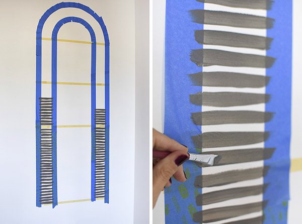 Painting a graphic arch