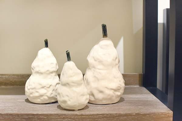 Make a House a Home, white ceramic pears