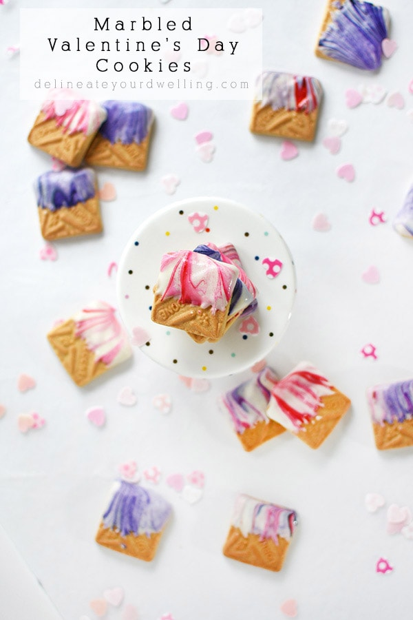 Marbled Valentine Cookie