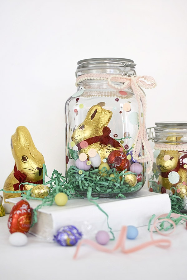 Mason Jar Easter basket