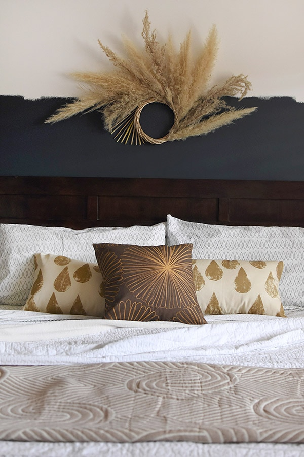Master Bedroom Pampas Grass + Bedding