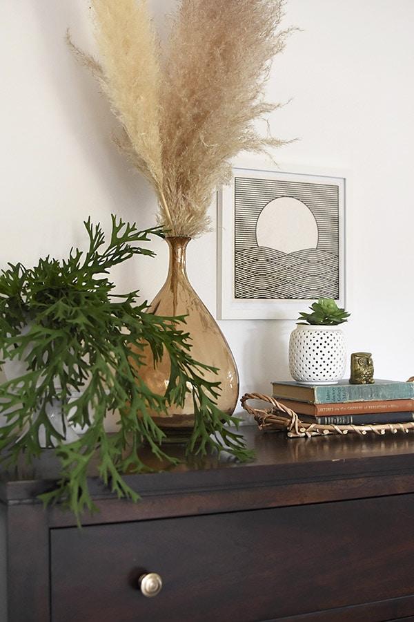 Master Bedroom Dresser Pampas Grass