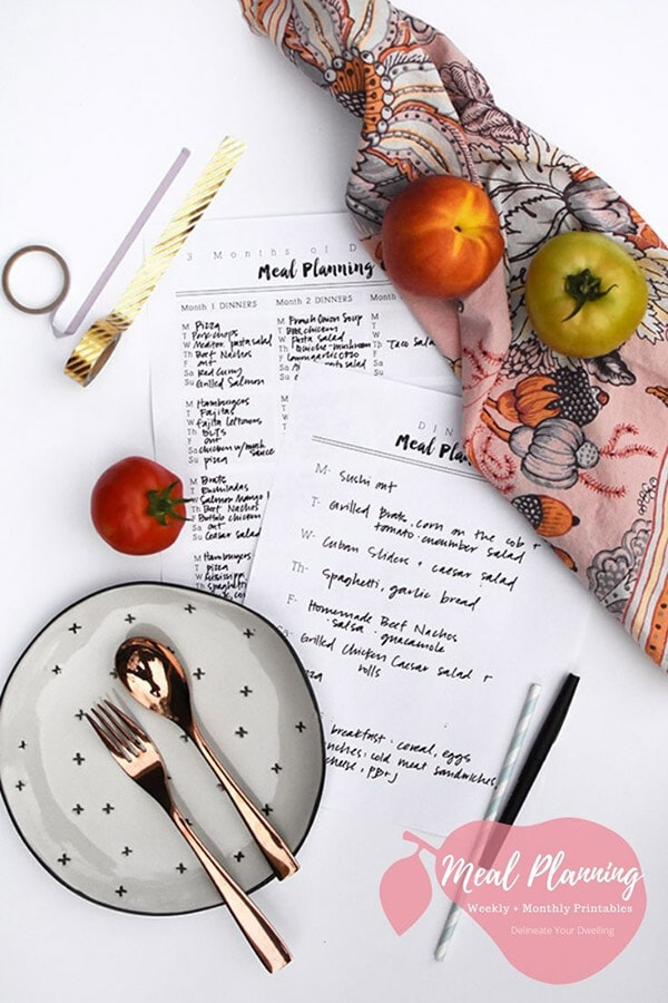 Simple Menu Planning Hack