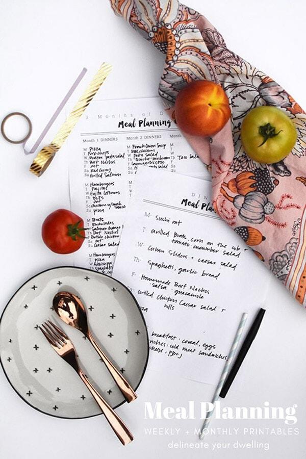 Block Weekly Meal Planner