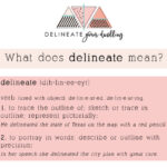 What is the meaning of the word delineate?