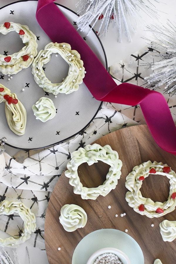 Christmas Dessert Wreaths