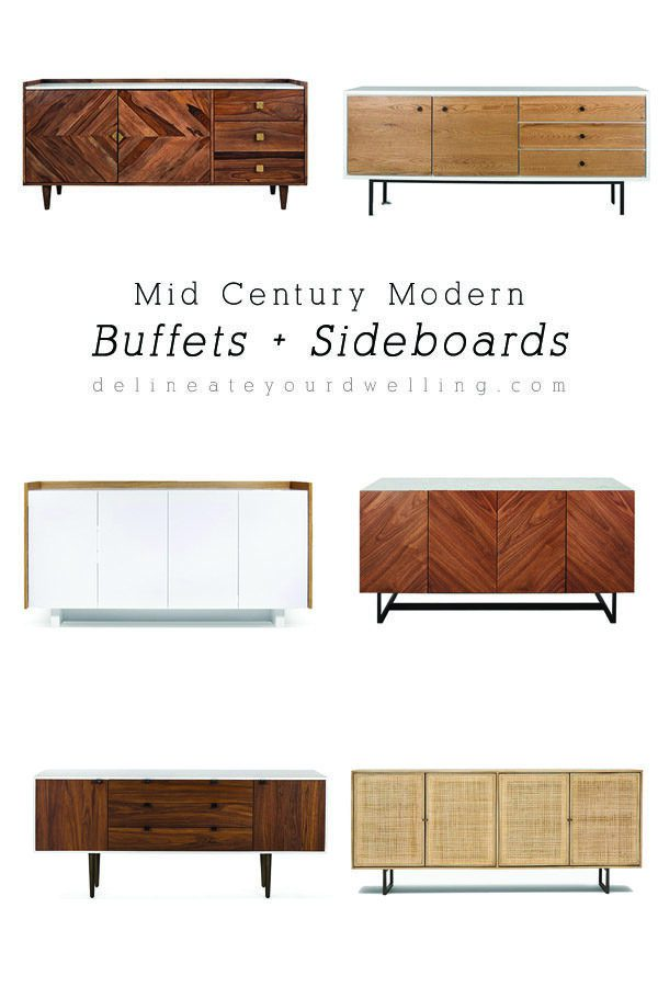 Six amazing Dining Room Mid Century Modern Buffets and Sideboards! Delineate Your Dwelling #diningroomfurniture #midcenturybuffet #diningroomsideboard