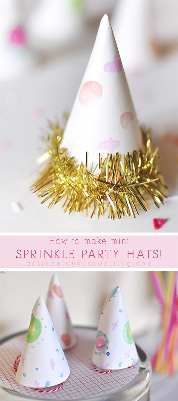 Sprinkle Birthday Party Hats