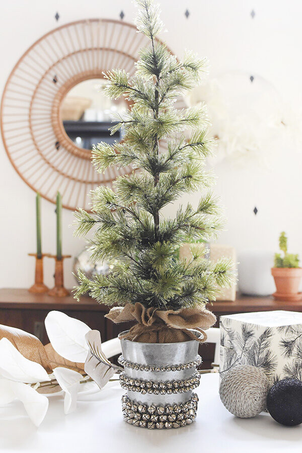 Jingle Bell Tabletop Christmas Tree pot