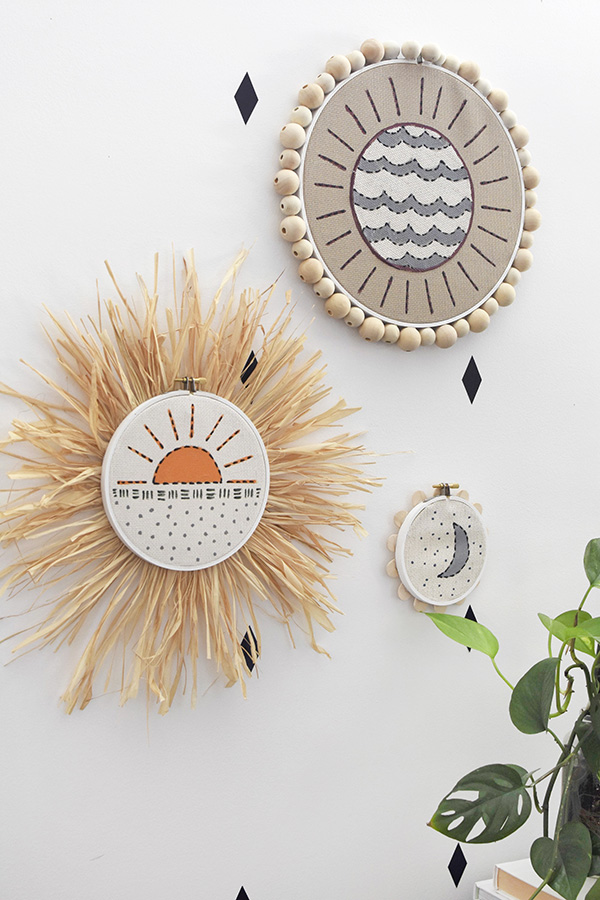 Faux Embroidery Paintings on wall