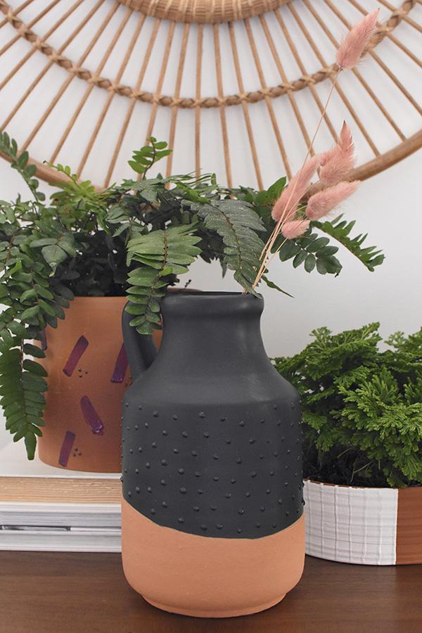 Modern Puff Paint Plant Pots