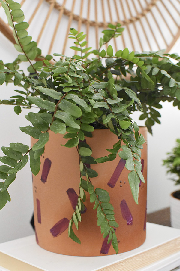 Brushstroke Puff Paint Plant Pots