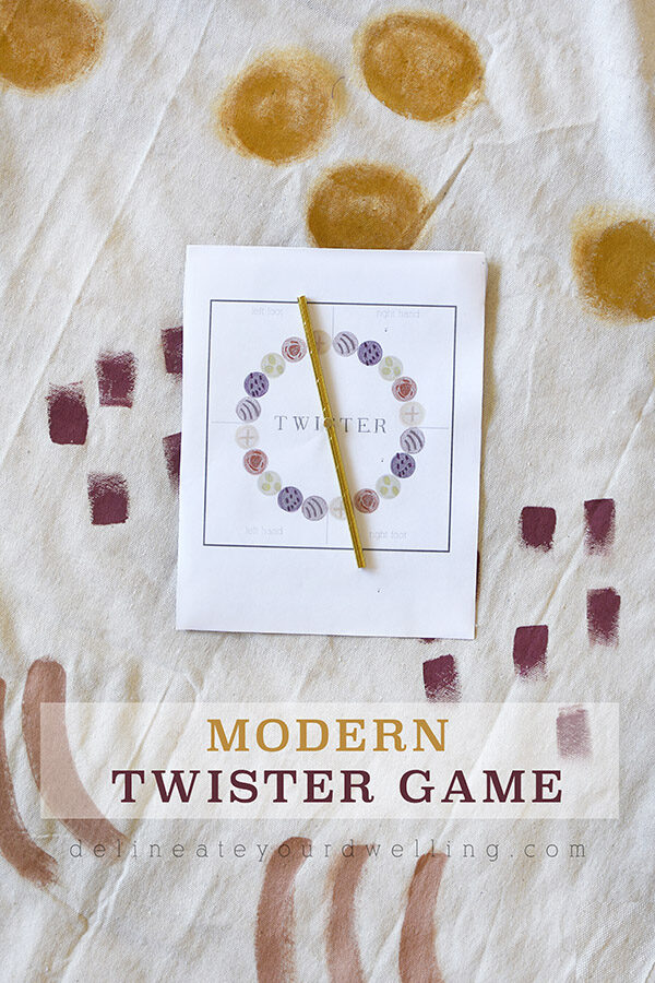 Trendy DIY Modern Twister Game