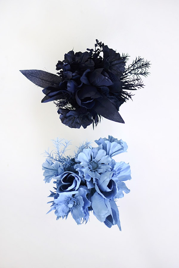 Create blue Monochrome Flower Bouquet Displays. Delineate Your Dwelling #monochromatic #blueart