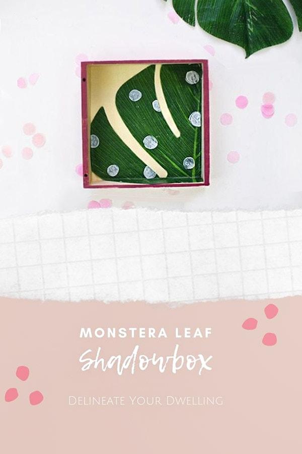 DIY Monstera Leaf Shadowbox
