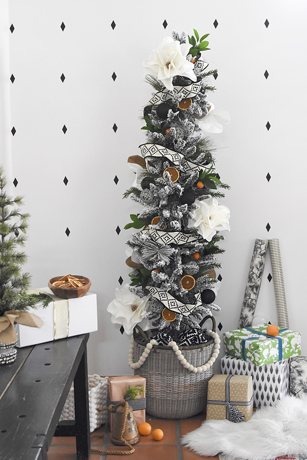 Natural Modern Flocked Christmas Tree