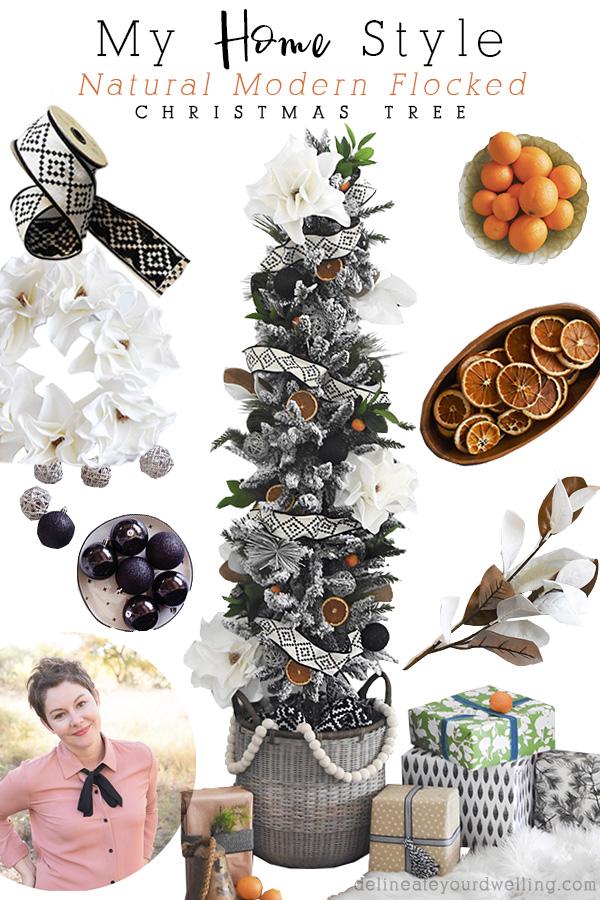 Modern Flocked Christmas Tree