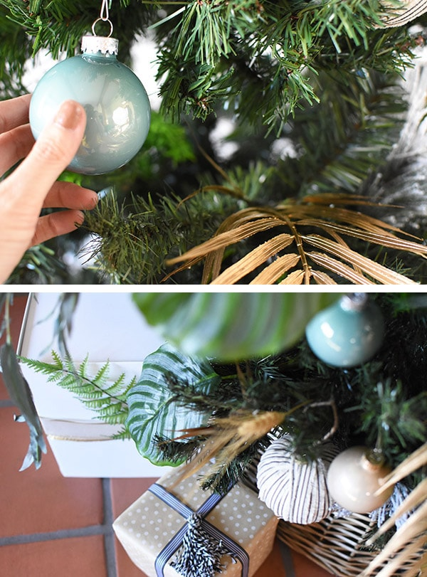 Mint Green Blue Ornament Christmas Tree