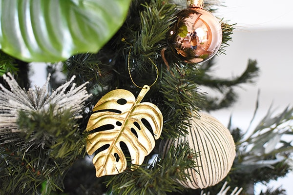 Gold Monstera Leaf Christmas Tree