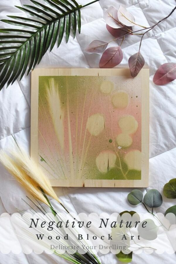 Negative Nature Plant Art