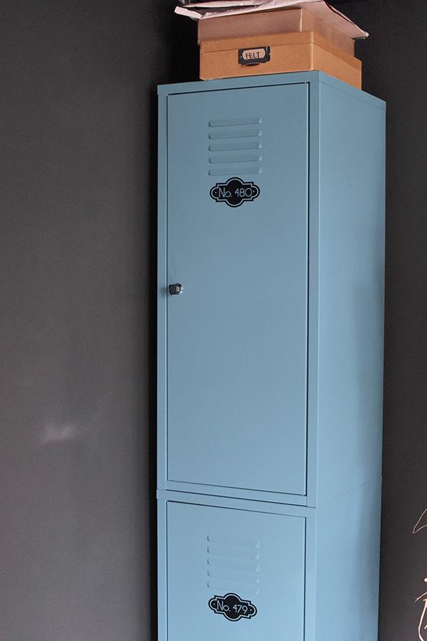 Blue IKEA locker before