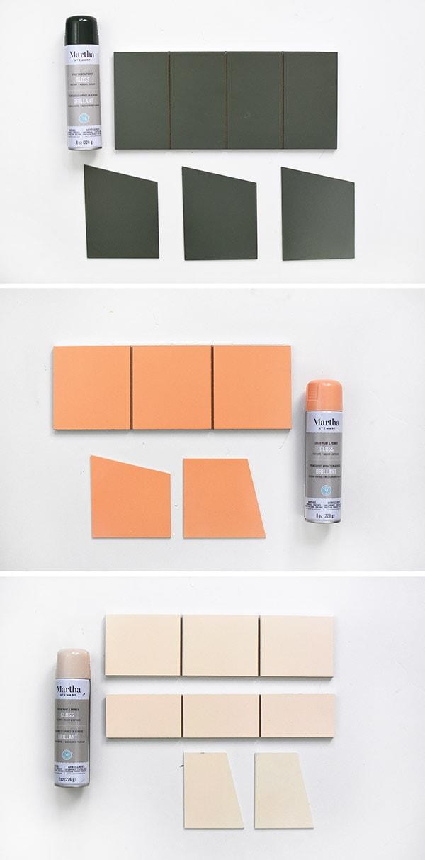 Spray Painted Organizer steps