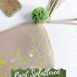 Paint Splattered Clutch