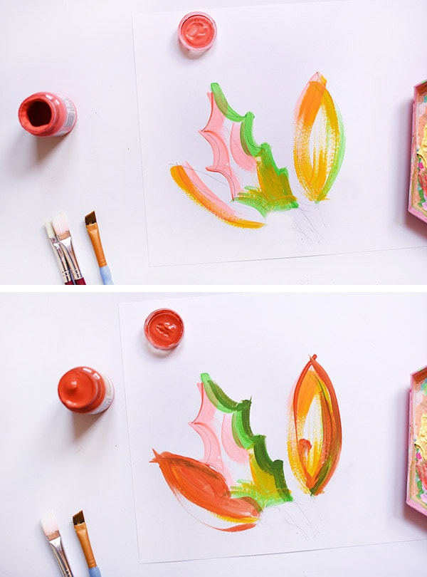 Colorful Painted Leaves-step2