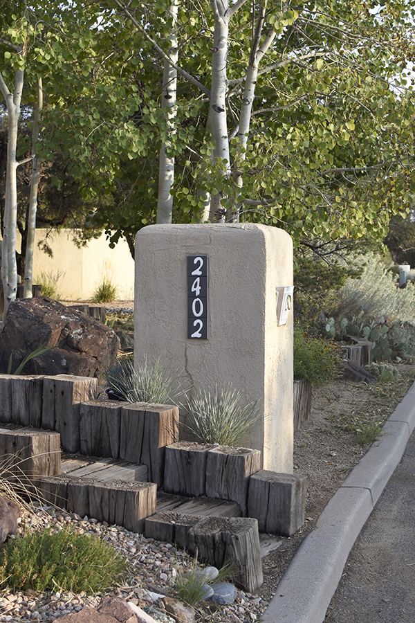 Painted Mailbox and Address Tiles