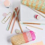 Painted Rattan Pencil Case