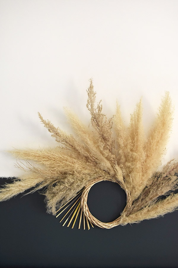 Pampas Grass Wreath-6