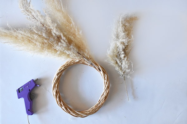 Pampas Grass Wreath step2