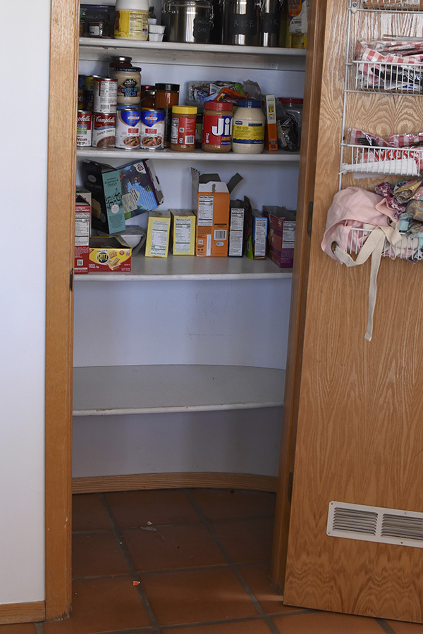 Organize your Pantry, remove all items