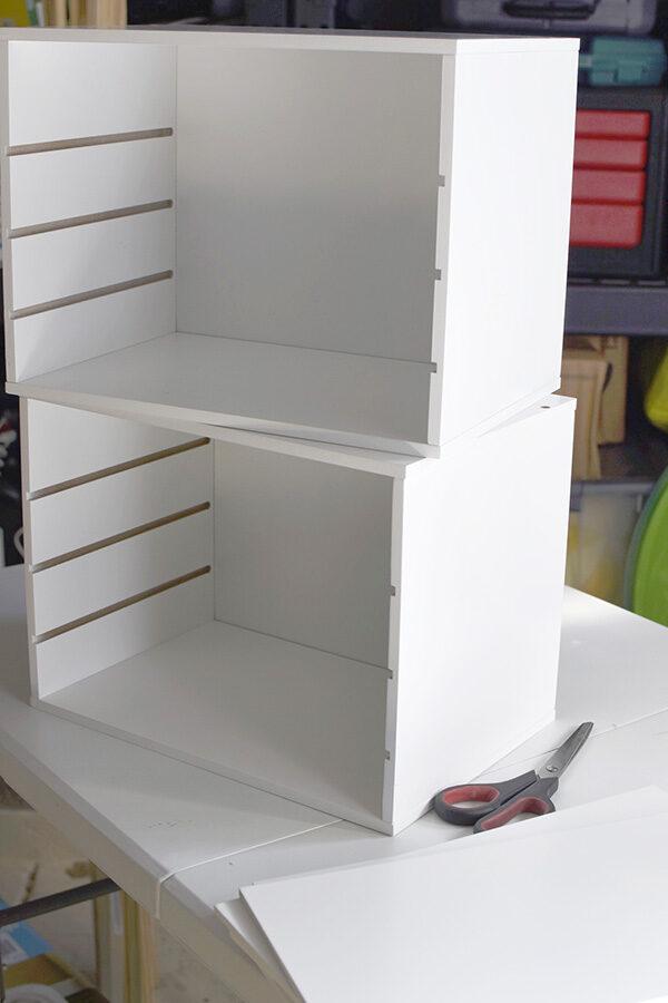 Assembling paper organizer