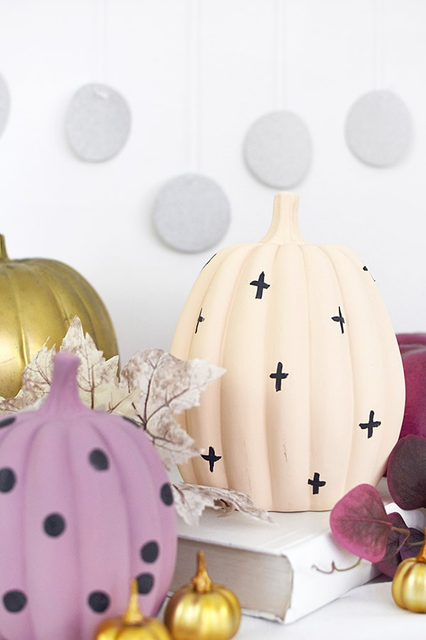 Pastel Pumpkins, gold, lavender and peach