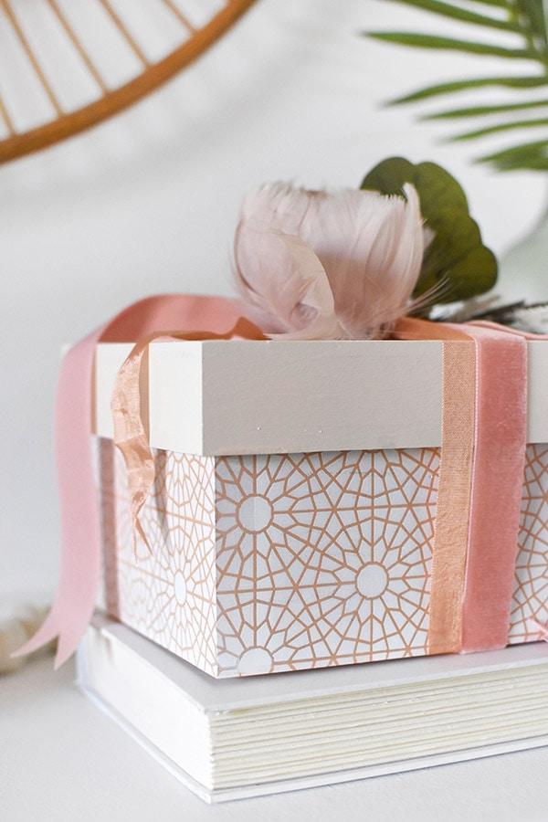 Peach Pattern Painted Box