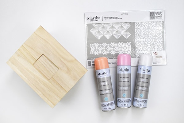 Pattern Painted Box supplies